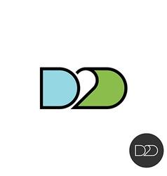 Door to door abbreviation logo linear style with vector