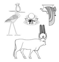 Egyptian ancient symbo vector