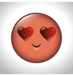 emoticon feeling love icon graphic vector image
