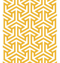 Endless pattern with geometric motif decor vector