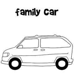 Family car of art vector