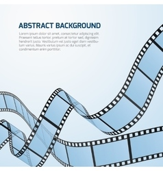 Film strip roll cinema background vector image