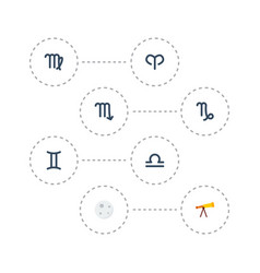 flat icons virgin optics lunar and other vector image