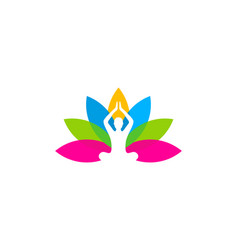 flower wellness logo icon design vector image