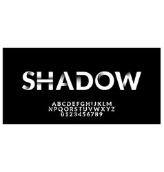 Font style white and black shadow effect design vector