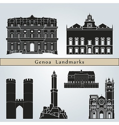 Genoa landmarks and monuments vector image