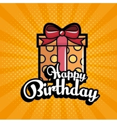 Gift birthday present icon vector