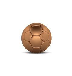 gold soccer ball on white background golden vector image