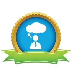 Gold speaking people logo vector