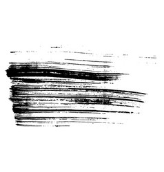 Grunge ink dry brush dash texture on paper vector