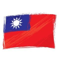 Grunge Taiwan flag vector