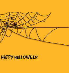 Happy halloween spider theme vector