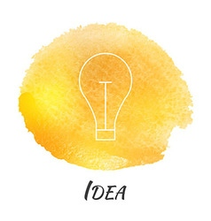 Idea light bulb lamp watercolor concept vector