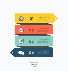 infographic elements with business icons on white vector image