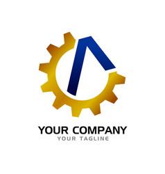 initial a civil company symbol logo design vector image