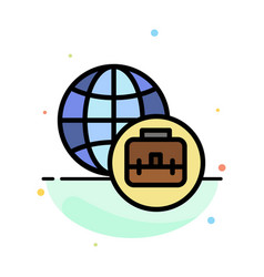 international business abstract flat color icon vector image