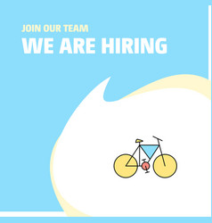 join our team busienss company cycle we are vector image