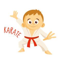 kinds of sports athlete karate vector image