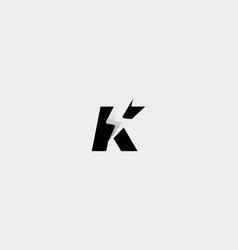 Letter k bolt logo design icon vector