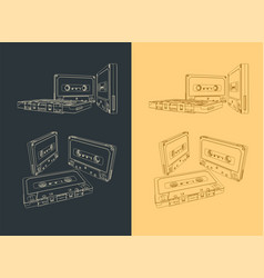 Magnetic tape cassettes vector