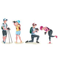 Male photographer set vector