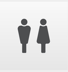 man and woman icon flat person symbol isol vector image