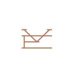 mark initial logo icon vector image