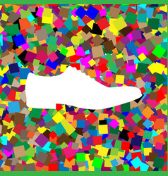 men shoes sign white icon on colorful vector image