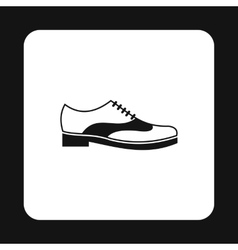 Mens shoe with lace icon simple style vector image