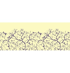 Painted tree brunches horizontal seamless pattern vector image