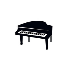 piano graphic design template isolated vector image