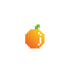 pixel fruit logo icon design vector image