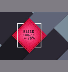red jeans banner with square frame vector image