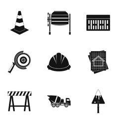Repair icons set simple style vector image