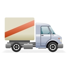 Retro Light Commercial Vehicle Pickup Truck Car vector