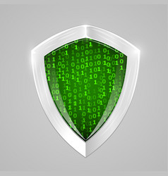 security digital shield soncept web security or vector image