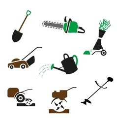 set Gardening icon vector image
