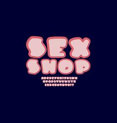 Sexy bold font trendy beautiful alphabet vector