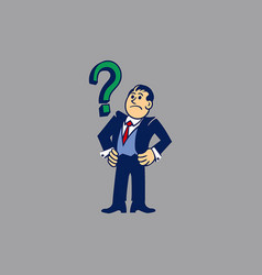 simple businessman get issues vector image
