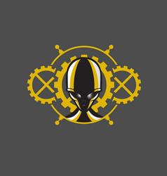 steampunk alien head vector image