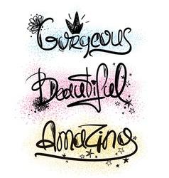 Typography handlettering inspirational words vector