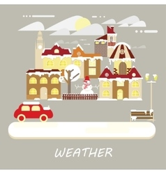 Winter cloudy weather vector