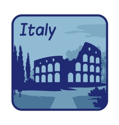 With Colosseum in Rome vector
