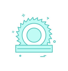wood cutter icon design vector image