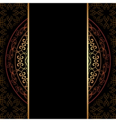 dark background with geometric pattern vector image