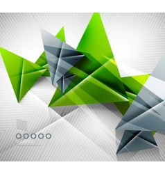 Geometric shape abstract triangle background vector image