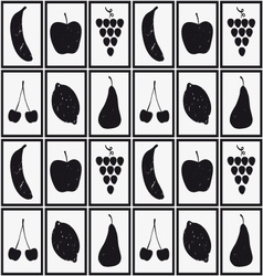 Set of fruits silhouettes vector image