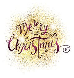 Xmas greeting card with lettering vector