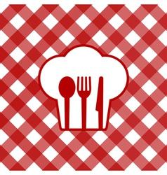 checkered tablecloth vector image