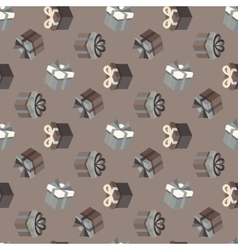 Gift pattern vector image vector image